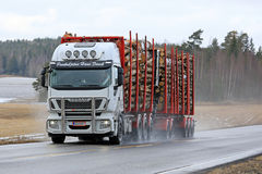 Iveco Stralis 560 Logging Truck Hauls Load Royalty Free Stock Photos