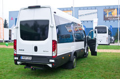 Iveco Daily. Tartu - September 26: Iveco Daily minibus at the Tartu Motoshow on September 26, 2015 in Tartu, Estonia stock photo
