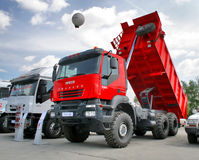 IVECO Trakker. Dump truck IVECO Trakker exhibited at the annual Motor show Benzokolonka on May 24, 2008 in Chelyabinsk, Russia stock photography
