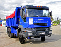 IVECO Trakker. Dump truck IVECO Trakker exhibited at the annual Motor show Benzokolonka on May 26, 2007 in Chelyabinsk, Russia royalty free stock photos