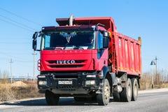 Iveco Trakker. Novyy Urengoy, Russia - June 10, 2013: Dump truck Iveco Trakker at the interurban road royalty free stock photo