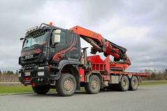 Iveco Trakker With Truck Mounted Palfinger Crane Royalty Free Stock Photography