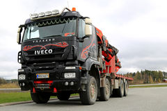 Iveco Trakker With Truck Mounted Palfinger Crane Stock Photography