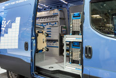Iveco van with Sortimo in-vehicle storage equipment Stock Images