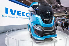 IVECO Z Truck Concept. Hannover, Germany - Sep 23, 2016: IVECO Z Truck - a zero impact autonomous driving concept truck at the Commercial Vehicles Fair IAA 2016 royalty free stock images