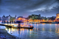 Iver Thames in twilight HDR procee Stock Photos