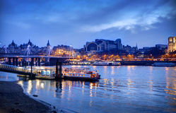 Iver Thames in twilight HDR procee Stock Images