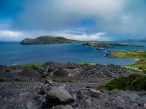 Iveragh von Valentia Island, wilde atlantische Weise stockbild