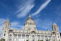 Iverpool centrum miasta - Trzy graci, budynki na Liverpool& x27; s wa Obraz Stock