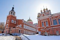 iversky修道院俄国翼果 免版税库存照片