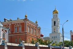Iversky妇女翼果的` s修道院在夏日 库存图片