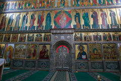 Iversky大教堂的法坛 免版税库存图片