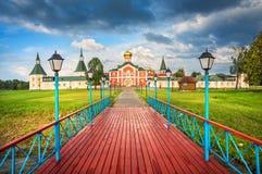 Iversky monastery and Filippovskaya church royalty free stock image