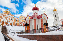 Iversky monastery in Samara, Russia Royalty Free Stock Photo
