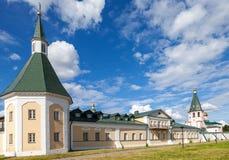 Iversky Monastery in Valdai, Novgorod region, Russia Stock Images