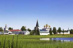 Iversky monastery in Valdai, Russia. Stock Photos