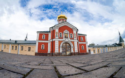 Iversky monastery in Valdai, Russia. Stock Photography