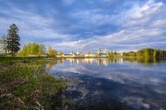 Iversky Monastery in Valdai, Russia stock photos