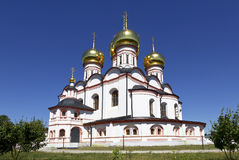 Iversky monastery in Valdai Stock Photo