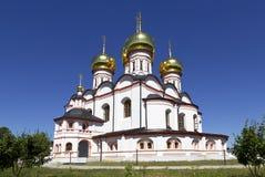 Iversky monastery in Valdai Stock Photo