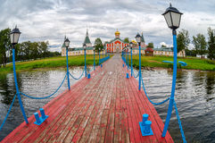 Iversky monastery in Valday, Russia Stock Image