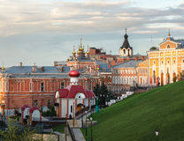 Iversky Women`s Monastery in Samara Russia autumn evening royalty free stock image