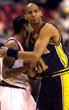 Iverson Miller. Allen Iverson and Reggie Miller in 2000-01 season Royalty Free Stock Photography