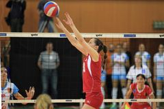 Iveta Halbichova - volleyball Stock Images