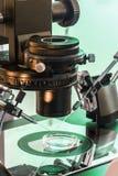 IVF Microscope. A Professional In Vitro Fertilisation Microscope Closeup stock photos