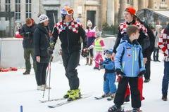 Ivica Kostelic narciarstwo w Bakaceva Fotografia Royalty Free