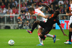 Ivica Olic in duel with Netherlands Vumon Anita Stock Image