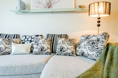 Iving room interior in a luxury house Stock Photography