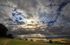 Ivinghoe bakan na Chiltern wzgórzach england fotografia royalty free