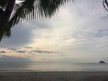 Ivisan bielu plaży widok zdjęcia royalty free