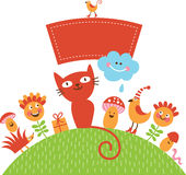 ivitation χαιρετισμού καρτών μωρών Στοκ εικόνες με δικαίωμα ελεύθερης χρήσης