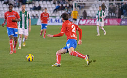 Iván Malón R(2) in action during match league Cordoba(W) vs Numancia (R) Royalty Free Stock Image