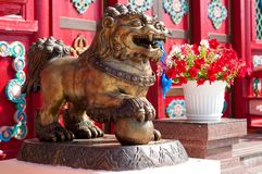 Ivolginsky datsan, λιοντάρι χιονιού στοκ φωτογραφίες