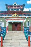 Ivolginsky datsan, Boeddhistische tempel, Buryatia stock fotografie