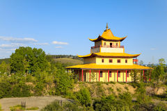 Ivolginsky Datsan on a bright summer day. Traditional Buddhist Temple Stock Images