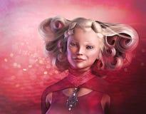 Ivoor Rose Dream Girl Royalty-vrije Stock Fotografie