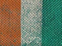 Ivoriansk flagga av skjulet Ivoire Fotografering för Bildbyråer