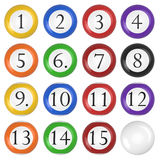 Ivories. 3d render of  billiard balls on a white background Royalty Free Stock Photos