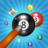 Ivories, Billiard Balls Background Royalty Free Stock Images