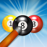 Ivories, Billiard Balls Background. Vector Illustration. EPS10 Royalty Free Stock Image