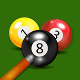 Ivories, Billiard Balls Background Royalty Free Stock Photography