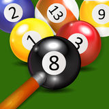 Ivories, Billiard Balls Background. Vector Illustration. EPS10 Royalty Free Stock Photo