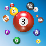 Ivories, Billiard Balls Set Vector. Illustration. EPS10 Royalty Free Stock Photography