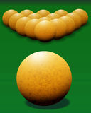 Ivory billiard ball. Royalty Free Stock Photos