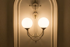 Ivory chandelier, wall type. Horizontal position photo Stock Photos