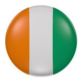 Ivory Coast button on white background Royalty Free Stock Images